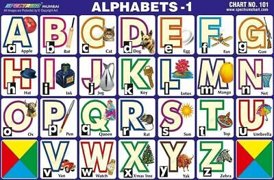English Alphabets A to Z Chart Wall Poster Educational Chart Paper For kids