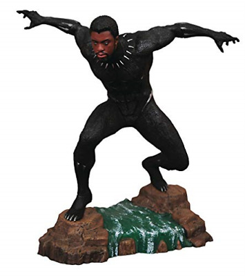 -Marvel Gallery Black Panther Unmasked Pvc Figure Acc New