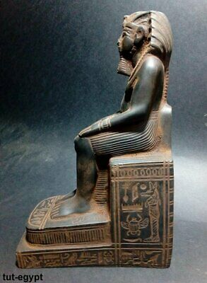 RARe EGYPT ANTIQUE ANTIQUITIES sitting King Rameses II Statue  (1549-1113 BC)