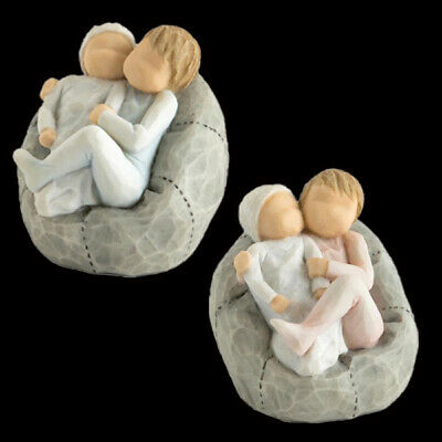 Willow Tree Double Pack My New Baby Sky & Blush Figurine RRP £48 - SAVE OVER 50%