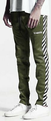Karter Collection Hasten Track Pants Olive Athletic Fashion Pant Mens