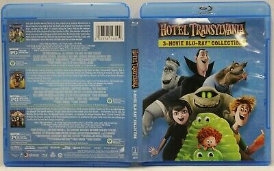 Hotel Transylvania: 3 Movie Collection (Blu-Ray,3-Disc Set) FREE Ship No Digital
