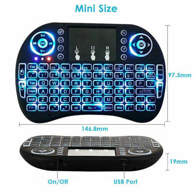 2.4G Mini Backlit Wireless Touchpad Keyboard Air Mouse For PC/Pad/Android TV Box