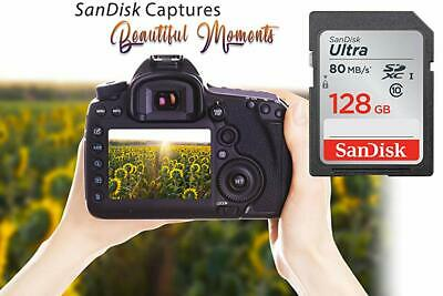 SanDisk 128GB Ultra Plus Class 10 SDXC 80MB/s SD Card Flash Memory Storage Card