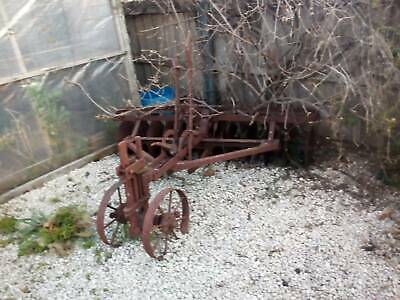 Antique Steel 10 Disc Plough Horse Drawn