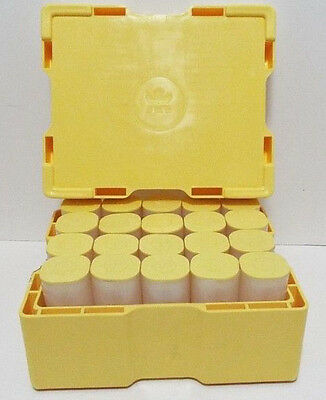 (1) Silver Maple Leaf Coin Tube (Empty) Holds 25 Coins Each - Yellow Cap