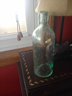 Vintage Medicine Bottle With Blob Top with Dr. S. B. H. & Co. on Bottom, Green