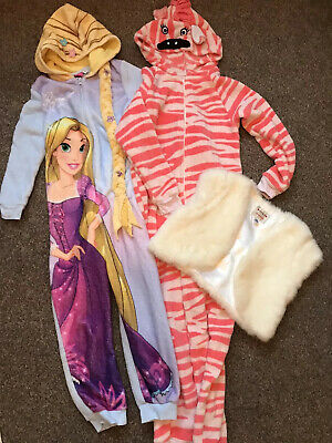 NEXT DISNEY Winter Lounge Wear Sleep Suit All In One 7-8 Year Old Girls 3 ITEMS