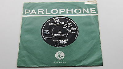 The Beatles Original  1964 Uk 45 A Hard Days Night  Excellent Plus