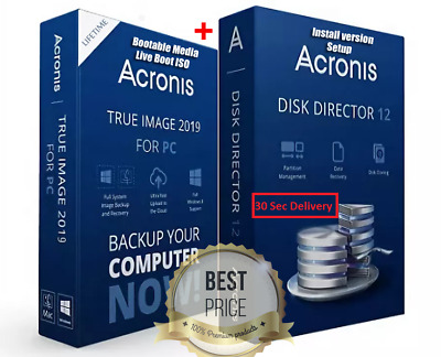Acronis True Image 2019 & Acronis Disk Director 12 | Lifetime Key 30 Sec Delivey