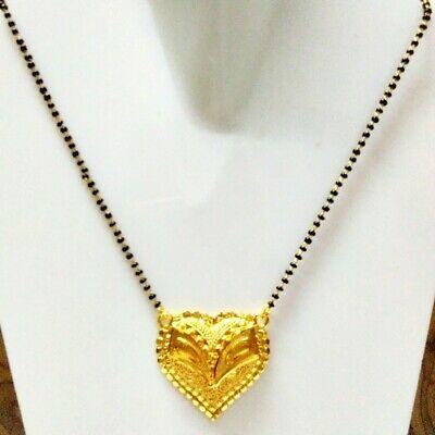 Ethnic Indian Bridal Sari Jewelry Gold Plated Long Chain Pendant Mangalsutra s22