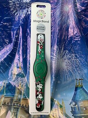 Disney Parks 2019 Mickey & Minnie Christmas Magic Band Linkable New & Linkable