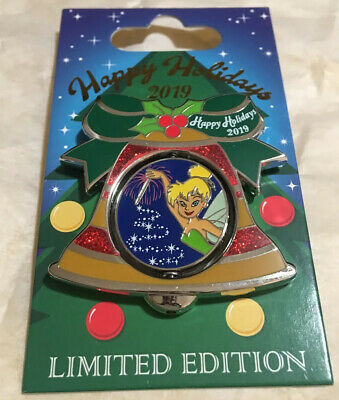 Disney World Contemporary Resort Tinker Bell Holiday Bell Collection Pin