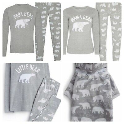 Primark Polar Bear Family Christmas Pyjamas PJs Womens Mens Childs Dog Matching