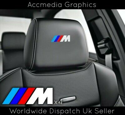 4 X BMW M SPORT M3 M5 M6 SEAT BADGES car stickers VINYL FILMIC EMBLEMS *PREMIUM*