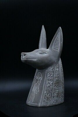 Unique Egyptian God anubis vintage statue heavy carved stone made in egypt