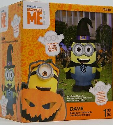 HALLOWEEN GONE BATTY MINION  YARD Despicable Me INFLATABLE AIRBLOWN 8 FT NIB