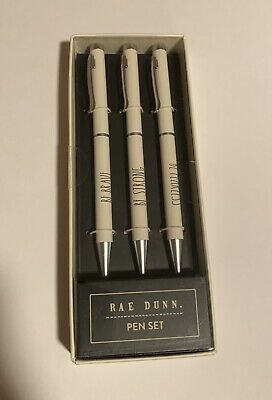Rae Dunn Ballpoint Pen Set -Be Brave, Be Strong, Be Fearless