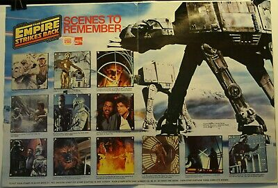 "1980 Star Wars Empire Strikes Back 15 x 11"" Stamp Booklet Complete Burger King"