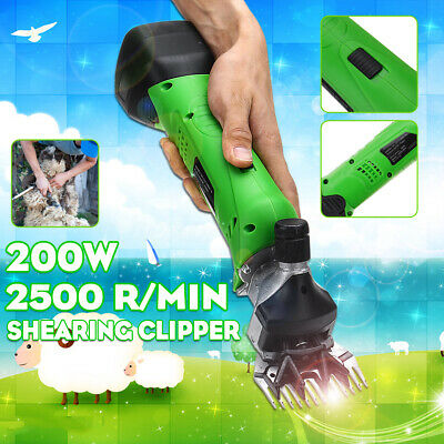 Rechargeable Cordless Electric Shear Shearing Clipper Animal Sheep Goat