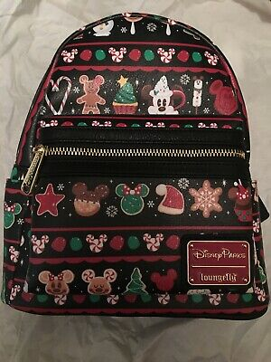 Disney Holiday Snacks Cookies Treats Christmas Loungefly Backpack 2019 See Pics