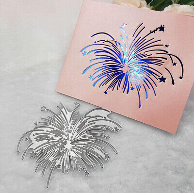 Star Fireworks Metal Cutting Dies Die Cut Craft Embossing Card Making Christmas