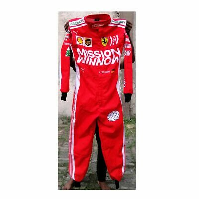 Ferrari Style 2019 Go Kart Race Suit Sublimated With Free Gift