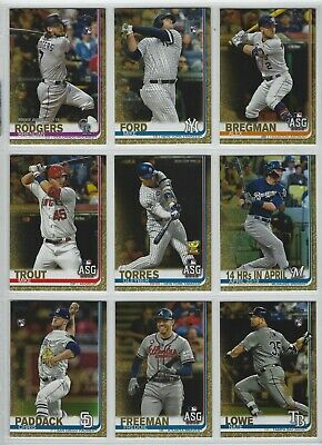 2019 Topps Update Series Gold Parallel #'d/2019 - U Pick Cards ~Buy 5 Get 2 FREE