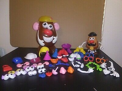2002 Europe Hasbro Mr Potato Head Storage Container Misc Pieces Trump Hair Piece