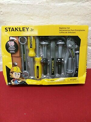 Stanley Jr. 15pc Tools & Accessories Beginner Set Toy NEW