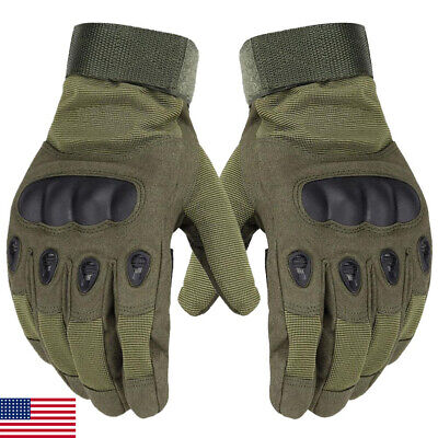 Outdoor Army Military Tactical Gloves Motorcycle Hunt Hard Knuckle Full Finger
