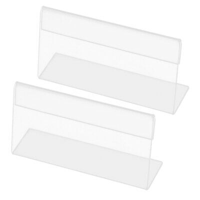 Clear Plastic Business Card Display Holder Name Tag Stand Case 2pcs
