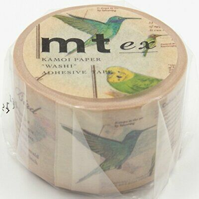 New Wide Mt Washi Masking Tape Deco Tape Picture Book Bird