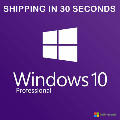 Windows 10 Professional Pro 32 & 64 Bit Activation Code License Key