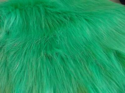 Super Luxury Faux Fur Fabric Material - LONG PILE SEA GREEN
