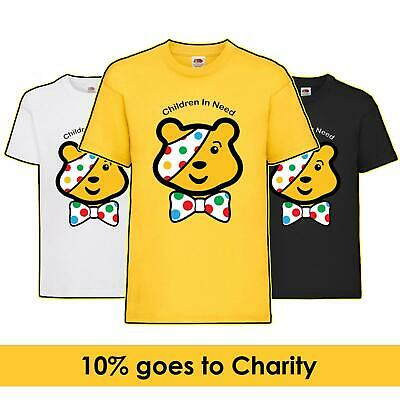 Top Cat Charity Day Pudsey Bear Fundraising Kids T-Shirt