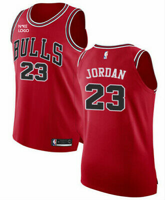 New NBA Jersey Michael Jordan #23 Chicago Bulls Retro Black/Red UK Stock
