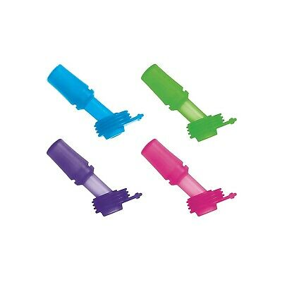 Eddy Kids Silicone Bite Valve Sports Water Bottle Accessories 4 Pack Multi Color
