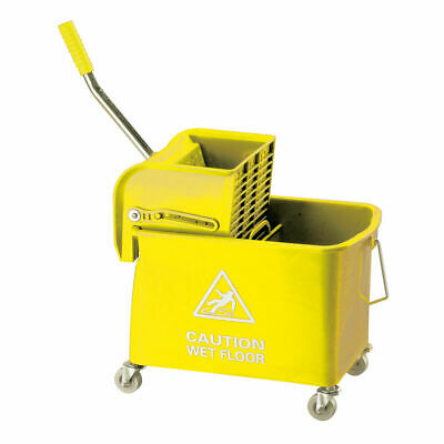 NEW! Mobile Mop Bucket and Wringer 20 Litre Yellow 101248YL