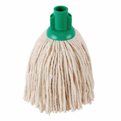 NEW! 2Work PY Smooth Socket Mop 12oz Green Pack of 10 101869G