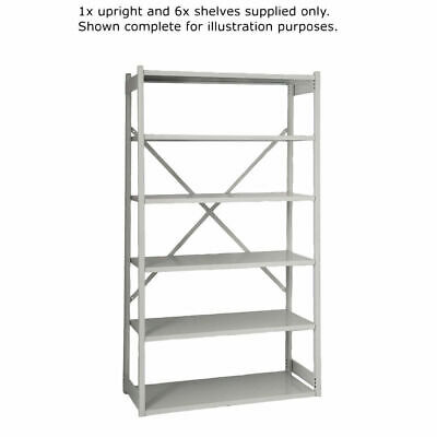 NEW! Bisley Shelving Extension Kit W1000xD460mm Grey BY838033