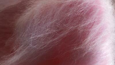 LONG Pile Fun Faux Fur Fabric Material - PALE PINK FROST