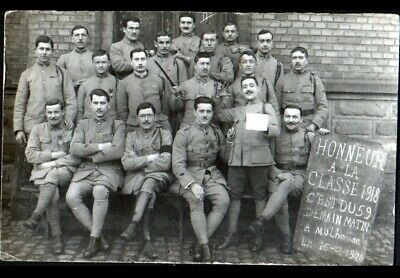 MULHOUSE (68) MILITAIRES de la Classe 1918 / COL N°148 / Carte-photo en 1920