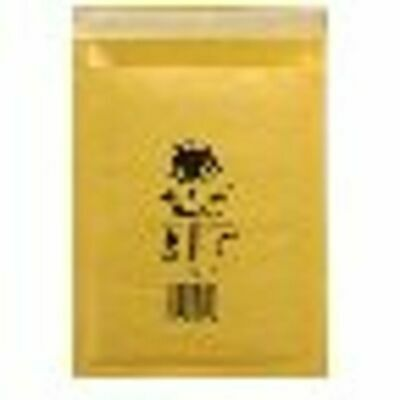 NEW! Jiffy AirKraft Bag Size 0 140x195mm Gold GO-0 Pack of 10 MMUL04602