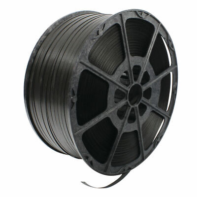 NEW! Polypropylene Strapping 12mmx2000m Black Strapping for security packages 82