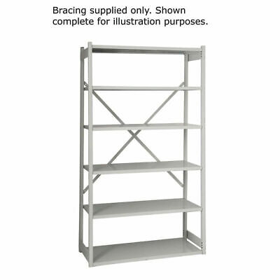 NEW! Bisley Shelving Bracing Kit W1000mm Grey 10ESEBK-AT4