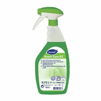 NEW! Diversey Room Care R2 Hard Surface Cleaner 750ml Pack of 6 100862136