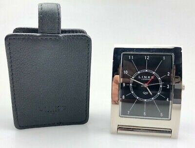 Links Of London Travel Alarm Clock with leather case