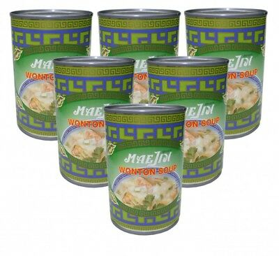 (5,32€/1l) [ 6x 410ml ] MAEJIN Wonton Suppe / Wantan /  Wan Tan Soup