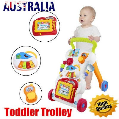 Baby Walker Toddler Kid Push Activity Colourful Toys w/Musical Instrument New YD